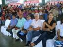 Várias autoridades e prefeitos presentes na solenidade