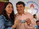 Cartão telefônico lançado pela Oi em homenagem a Cachoeira do Urubú