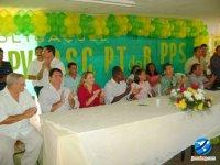 Convenção dos partidos do PRB, PPS, PV, PT do B e PSC na Unidade Escolar José Nogueira de Aguiar