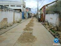 Obras da rua climatizada paradas, segundo informações, por falta de material