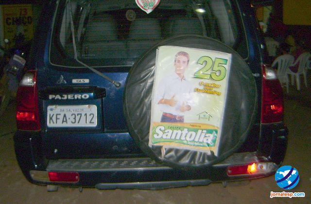 Carro de luxo alugado pela prefeitura usado para campanha