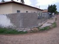 Muro da escola fechado