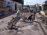Rua Vereador Ramos em obras
