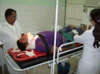 Paciente sendo atendido
