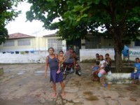 Escola com desabrigados das enchentes