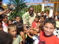 Chico Antônio e alunos