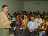 Coronel e participantes do curso