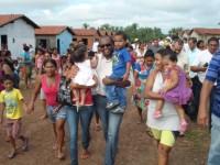 Chico Antônio e familias de alagados