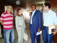 Prefeito Chico Antônio, assessores e Lilian Martins