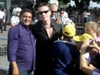 Carlito e o baterista do U2