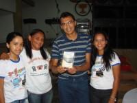 José Luiz no recebimento do Troféu