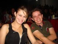 Romário com a namorada