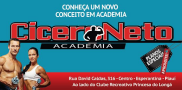 Academia Cicero Neto - Rua David Caldas, 316 - Ao lado do Clube Recreativo